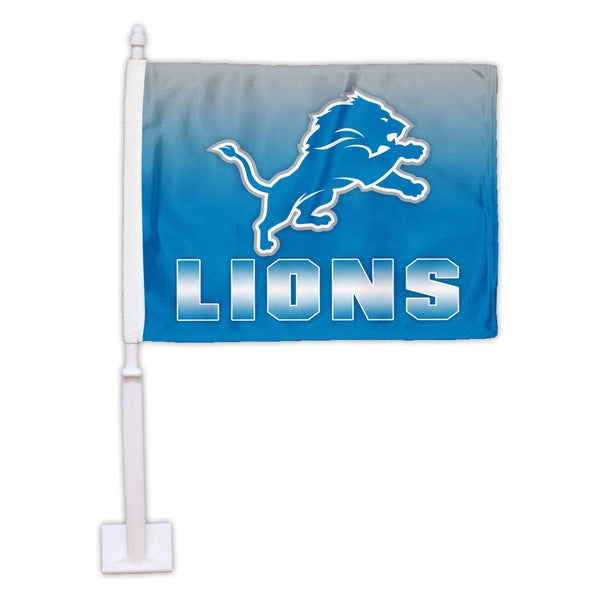 Detroit Lions Ombre Car Flag