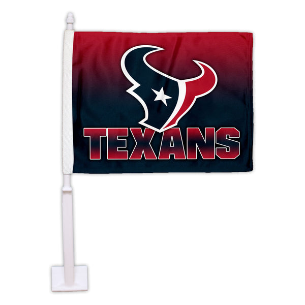 Houston Texans Ombre Car Flag