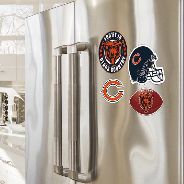 Chicago Bears 4 Piece Magnet Kit