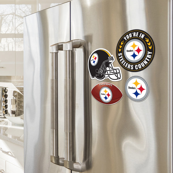 Pittsburgh Steelers 4 Piece Magnet Kit