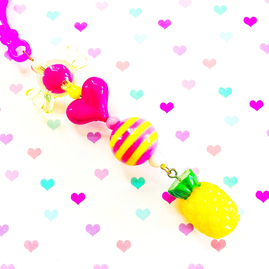 Pineapple Jelly Basket Charm