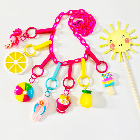 7 Charm Summer Necklace