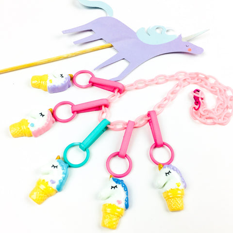New! Unicorn Ice Cream Charm // Pink