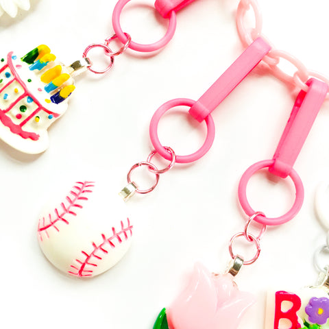 NEW! Pink Softball Charm