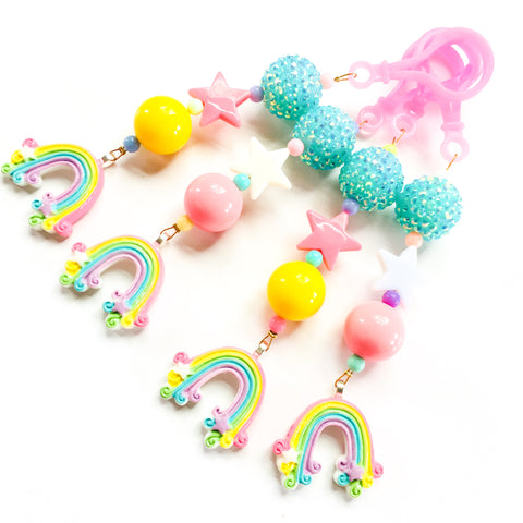 Pastel Rainbow Jelly Tote Charm