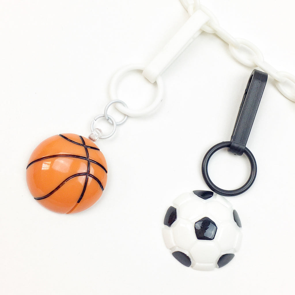 Flatback Basketball & Soccer Ball Charm