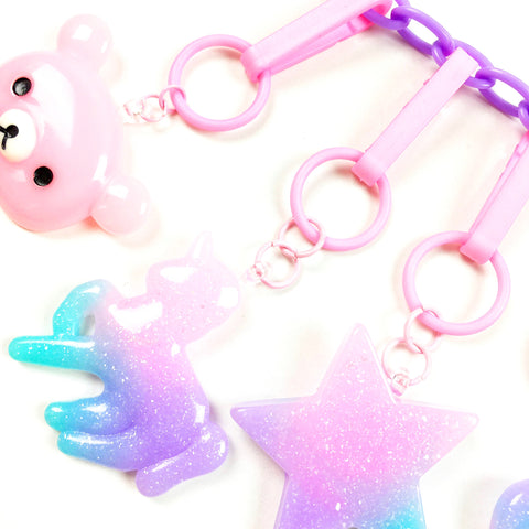 Glitter Unicorn Charm // Purple
