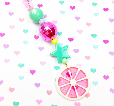 Fruit Slice Jelly Tote Charm