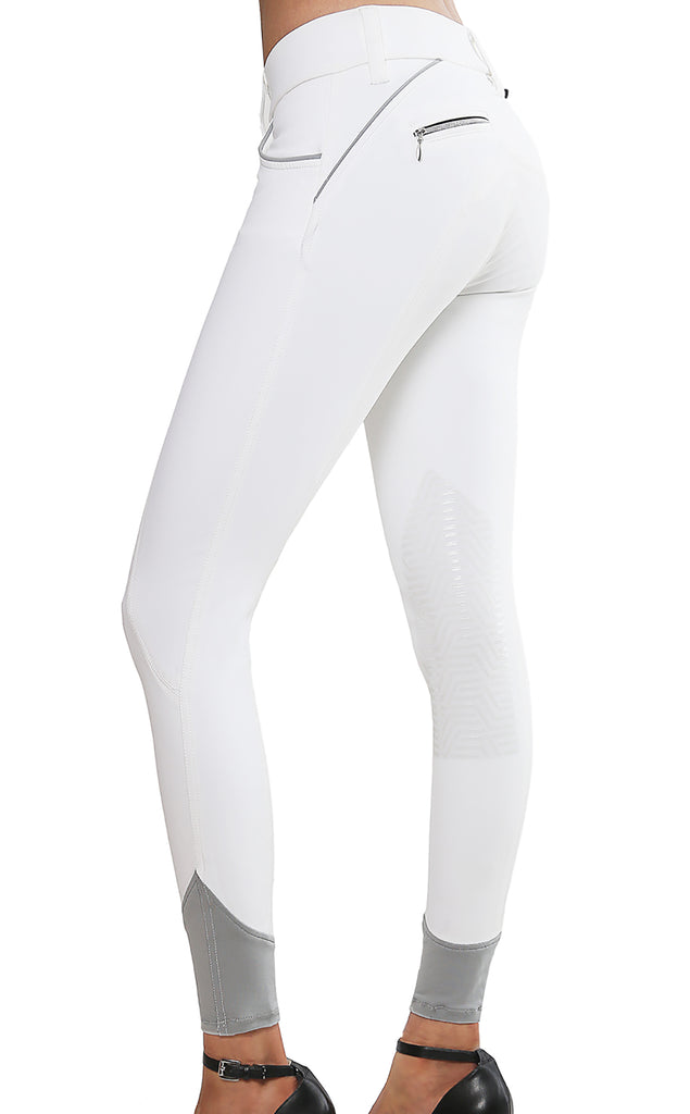 Aubrie Pro Meryl® Knee Patch Breech White