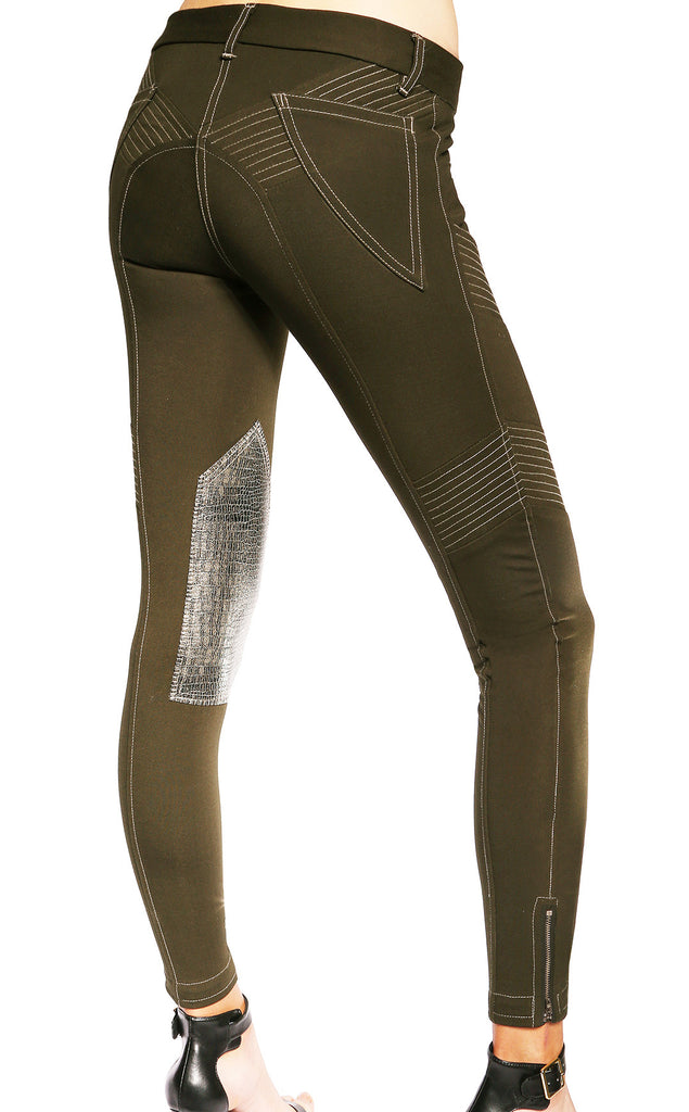 Jenna Knee Patch Breech Military