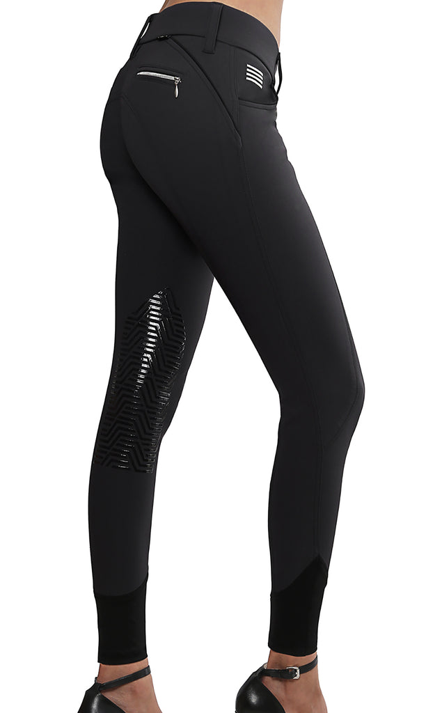 Aubrie Pro Meryl® Knee Patch Breech Black