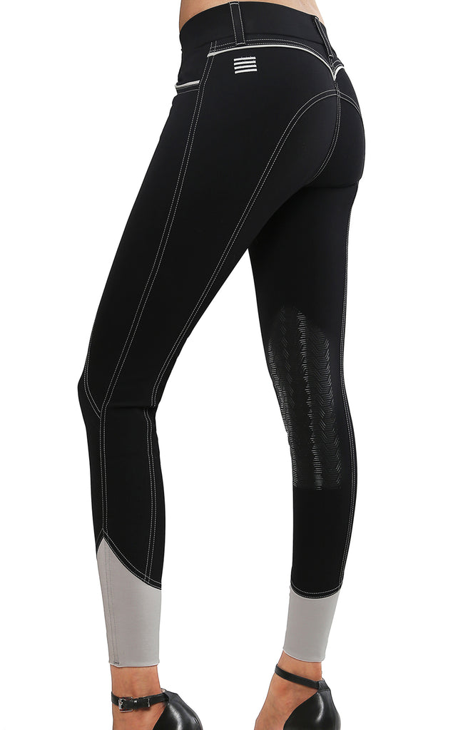 Elara Knee Patch Breech Black