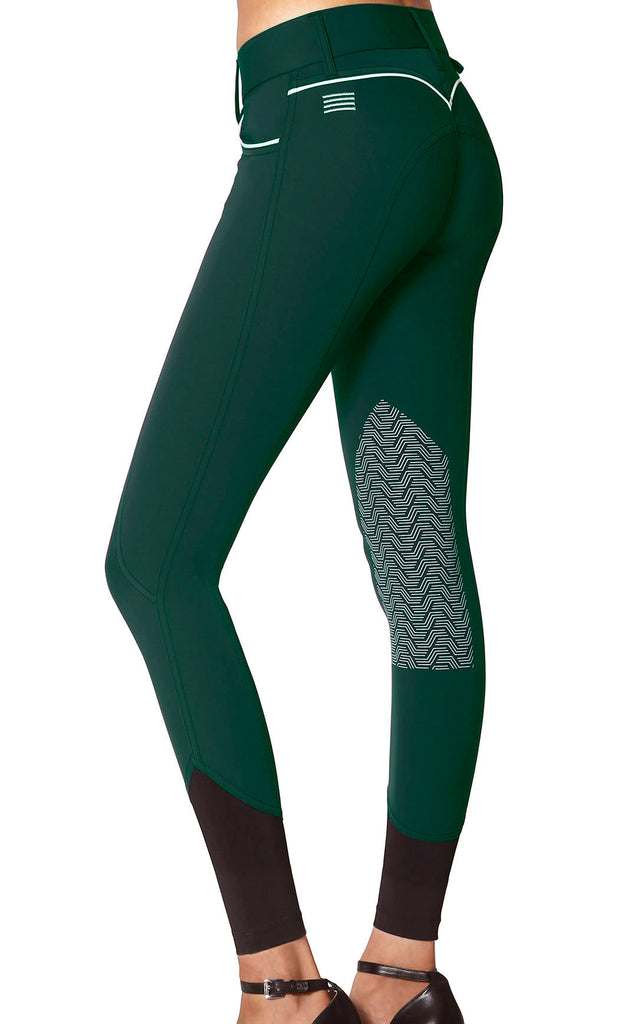 Elara Knee Patch Breech Emerald