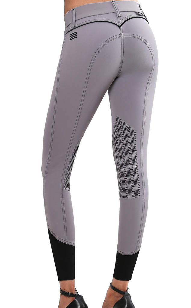 Elara Knee Patch Breech Light Grey