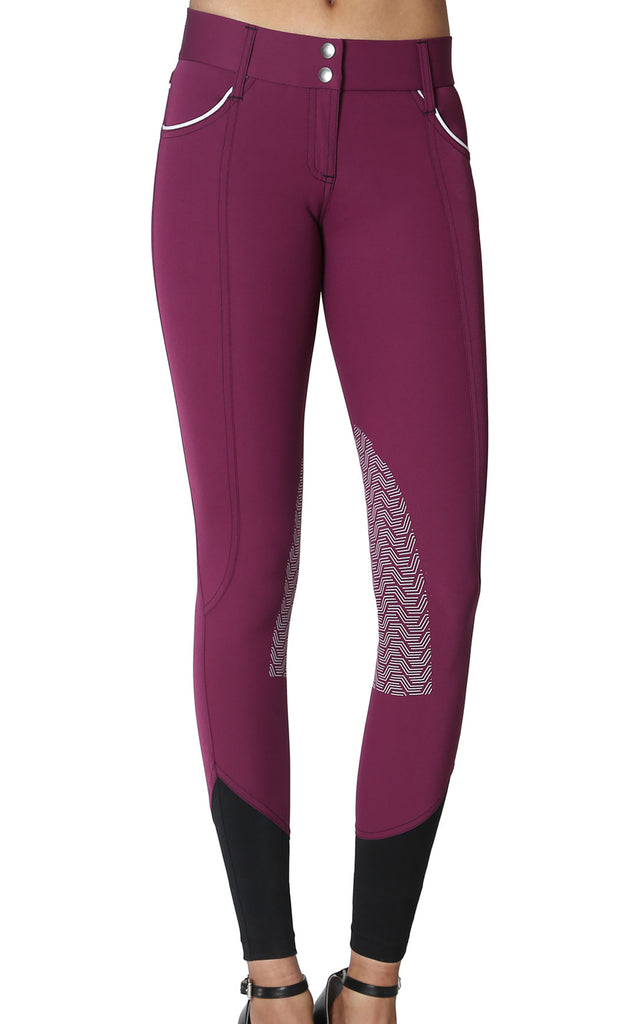 Elara Knee Patch Breech Plum
