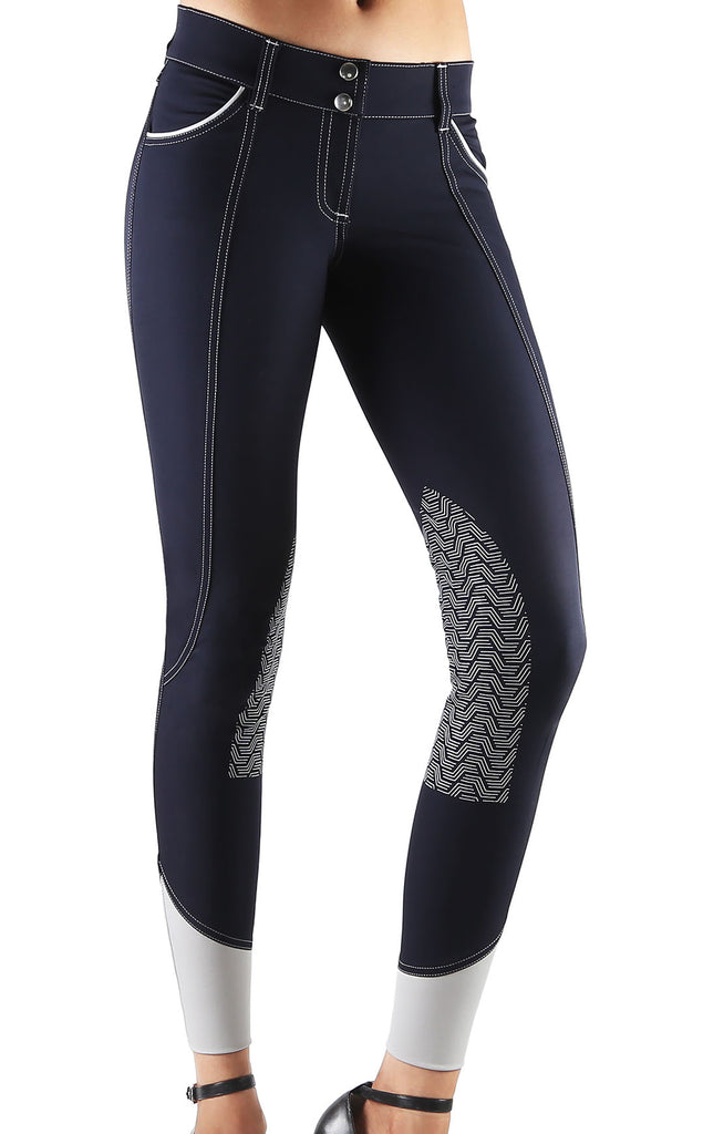 Elara Knee Patch Breech Navy