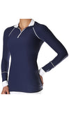 Alia Performance Shirt Navy T0012B