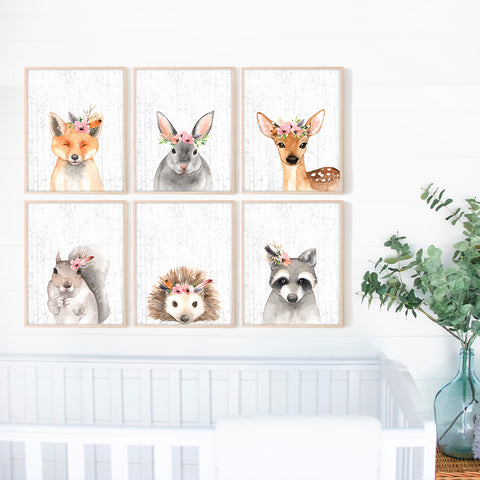 Woodland Animals Nursery Art Prints