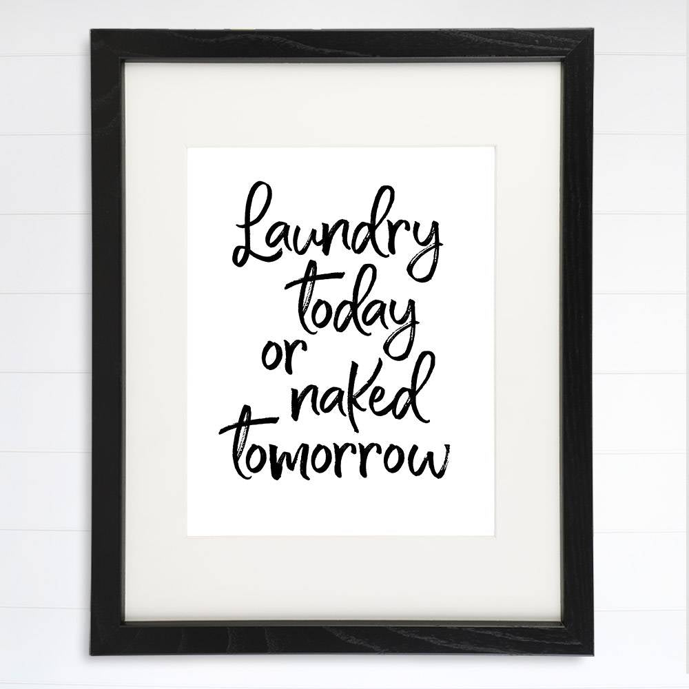 Laundry Room Decor Art Print - 8x10 - Dream Big Printables