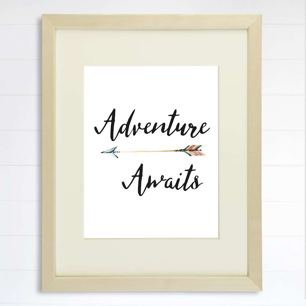 Adventure Awaits Art Print - 8x10 - Dream Big Printables