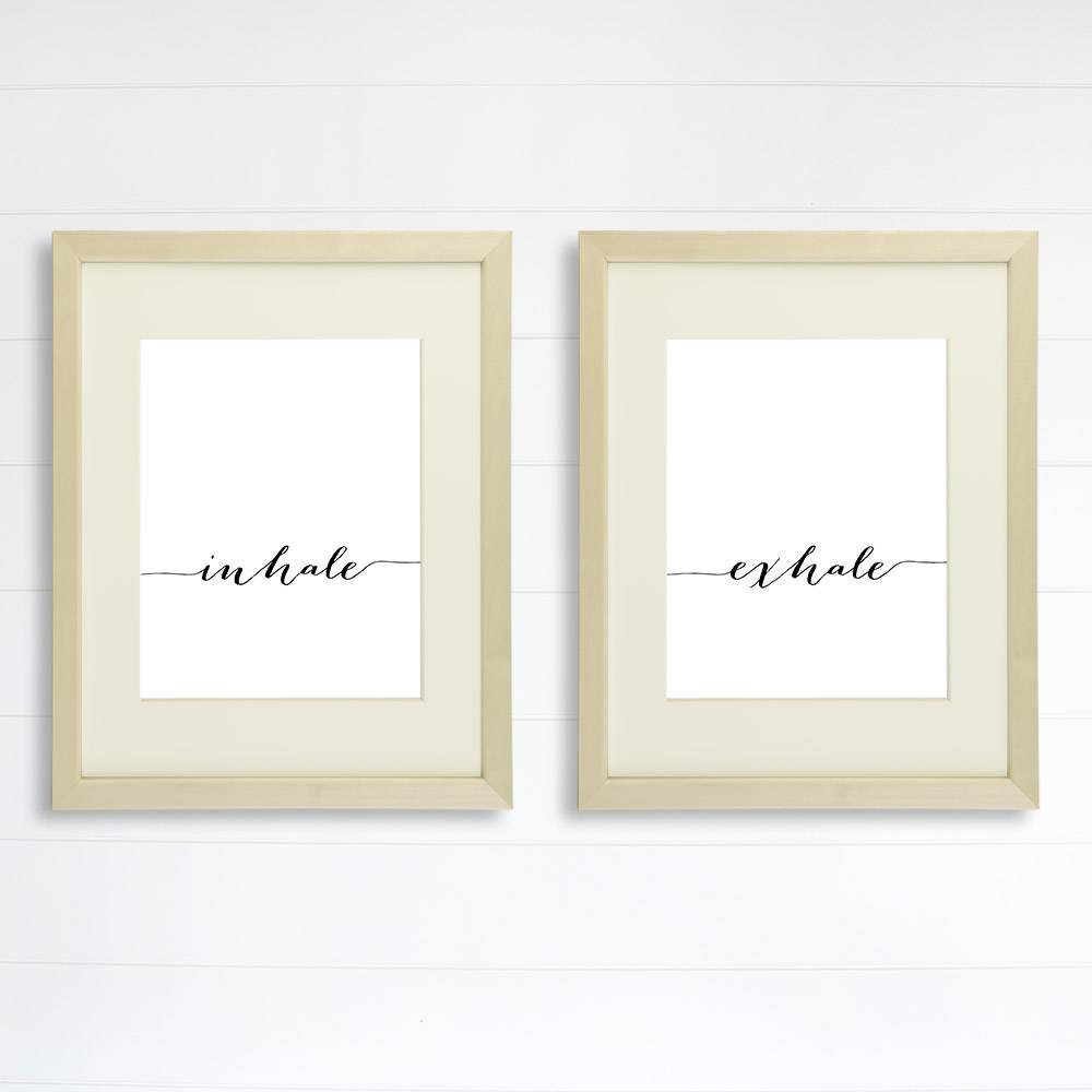 Inhale Exhale Wall Art Prints - (Set of 2) - 8x10 | Inspirational Wall Art - Dream Big Printables
