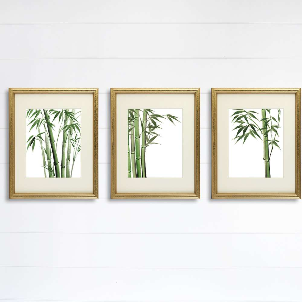 Bamboo Art Prints (Set of 3) - 8x10s - Dream Big Printables