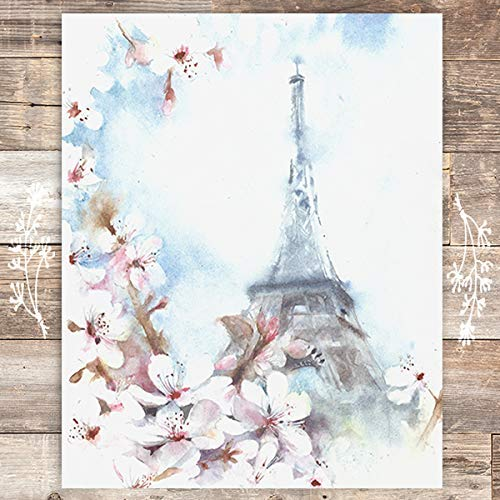 Eiffel Tower Art Print - Unframed - 8x10 - Dream Big Printables