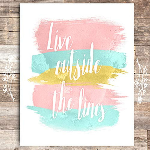 Live Outside the Lines Art Print - Unframed - 8x10 - Dream Big Printables