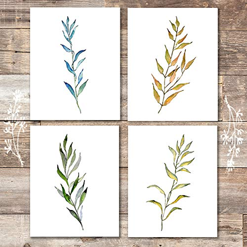 Willow Branches Art Prints (Set of 4) - Unframed - 8x10s - Dream Big Printables