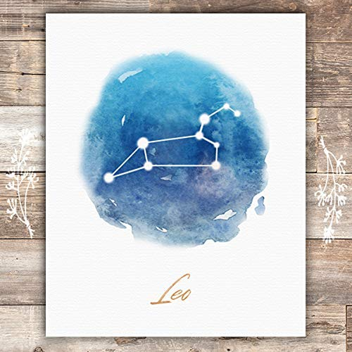 Watercolor Constellation - Leo - Art Print - Unframed - 8x10 - Dream Big Printables