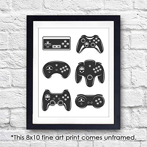 Video Game Wall Art Print - Unframed - 8x10