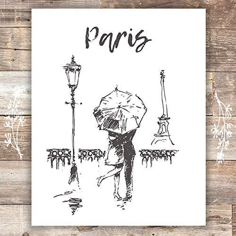 Paris Wall Art Print - Unframed - 8x10 | Eiffel Tower Decor - Dream Big Printables