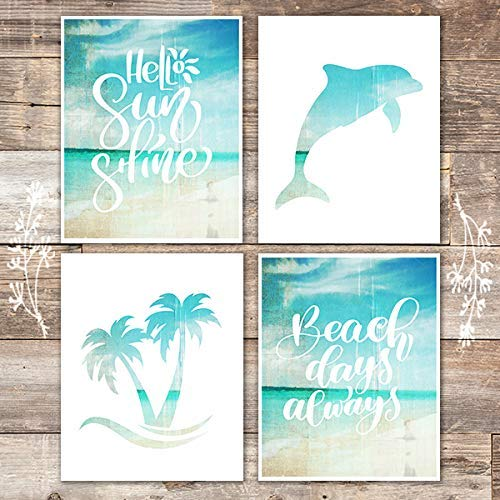 Beach Set Art Prints (Set of 4) - 8x10s - Dream Big Printables