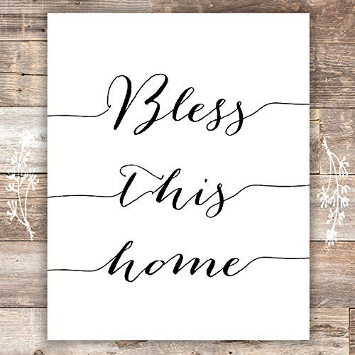 Bless this Home Art Print - Unframed - 8x10 - Dream Big Printables