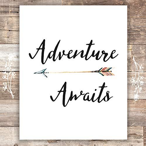 Adventure Awaits Art Print - Unframed - 8x10 - Dream Big Printables