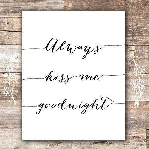 Always Kiss Me Goodnight Art Print - 8x10 - Dream Big Printables