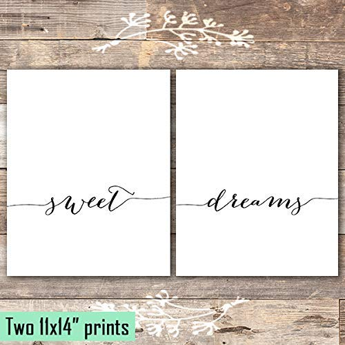 Sweet Dreams Art Prints (Set of 2) - Unframed - 11x14s - Dream Big Printables