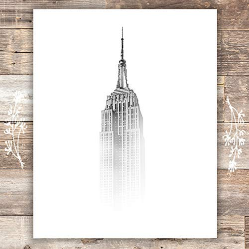 Empire State Building in the Mist Art Print - Unframed - 8x10 - Dream Big Printables