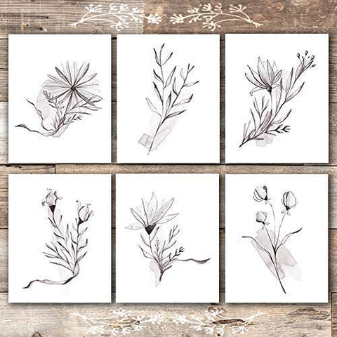 Elegant Floral Wall Art Prints (Set of 6) - Unframed - 8x10s - Dream Big Printables