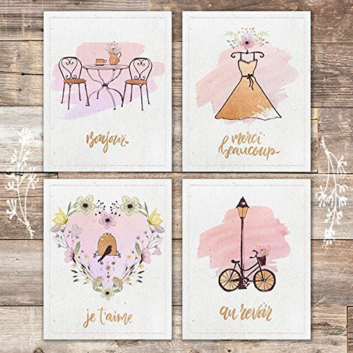 French Culture Art Set (Set of 4) - Unframed - 8x10s - Dream Big Printables
