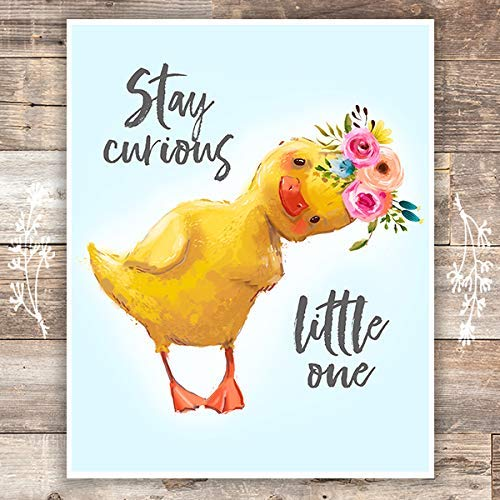 Stay Curious Little One Art Print - Unframed - 8x10 | Nursery Quote - Dream Big Printables