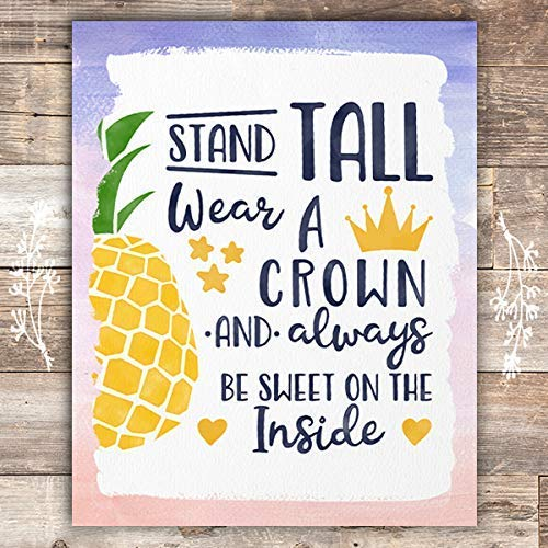 Stand Tall and Wear a Crown - Unframed - 8x10 - Dream Big Printables
