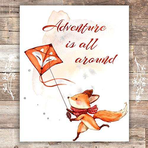 Adventure Is All Around Art Print - 8x10 - Dream Big Printables