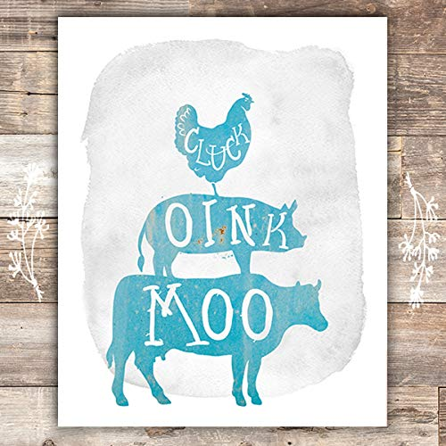 Rustic Farm Animals Art Prints - Unframed - 8x10s - Dream Big Printables