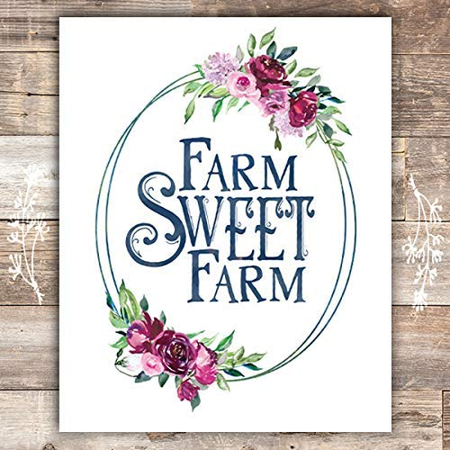 Farm Sweet Farm Art Print - Unframed - 8x10s - Dream Big Printables