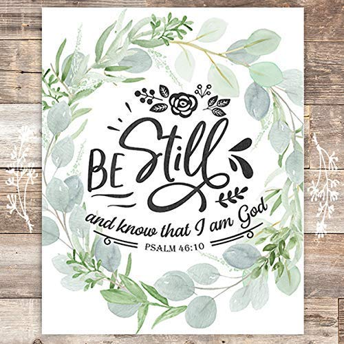 Be Still And Know That I Am God Art Print - 8x10 - Dream Big Printables