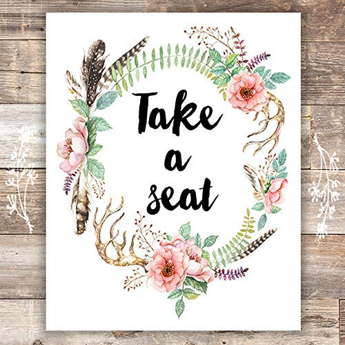 Take a Seat Art Print - Unframed - 8x10 - Dream Big Printables