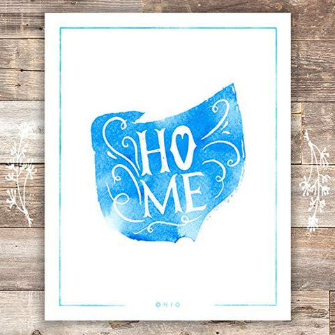 Ohio Home Art Print - Unframed - 8x10 | Wall Decor - Dream Big Printables