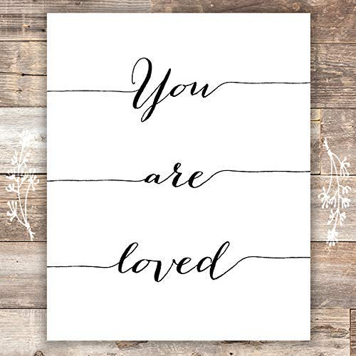 You Are Loved Calligraphy Art Print - Unframed - 8x10 - Dream Big Printables