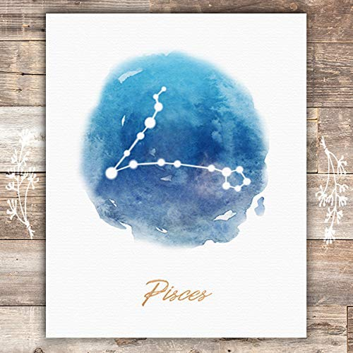 Watercolor Constellation - Pisces - Art Print - Unframed - 8x10 - Dream Big Printables